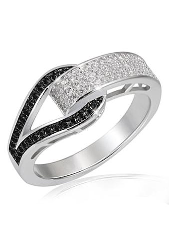 goldmaid Silberring, 925/- Silber 79 Zirkonia schwarz/weiße kaufen