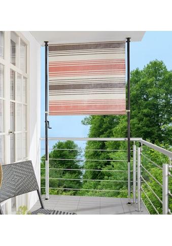 ANGERER FREIZEITMÖBEL Klemm - Senkrechtmarkise »Nr. 5100«, rot/beige/braun, BxH: 120x275 cm kaufen