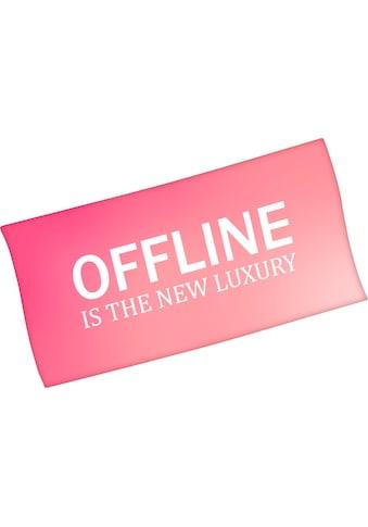 Minions Badetuch »Offline is the new luxury«, (1 St.), mit lustigem Spruch kaufen