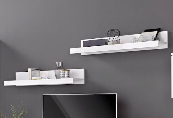 weiße Wandboards