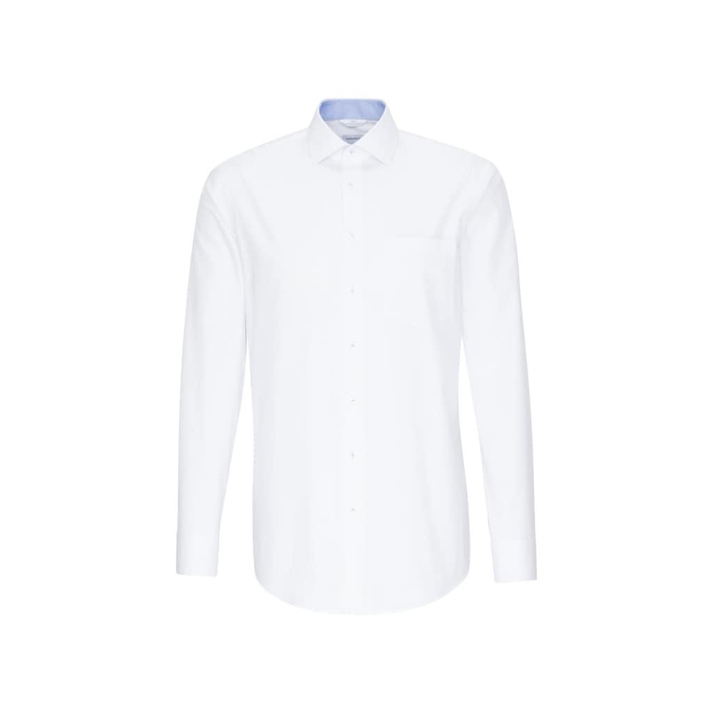 seidensticker Businesshemd »Regular«, Regular Langarm Kentkragen Punkte
