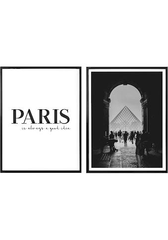 Wall-Art Poster »Paris is always a good idea«, (Set), Poster, Wandbild, Bild, Wandposter kaufen