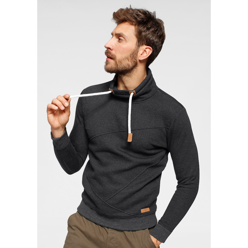 John Devin Sweatshirt, mit modernem Schlauchkragen