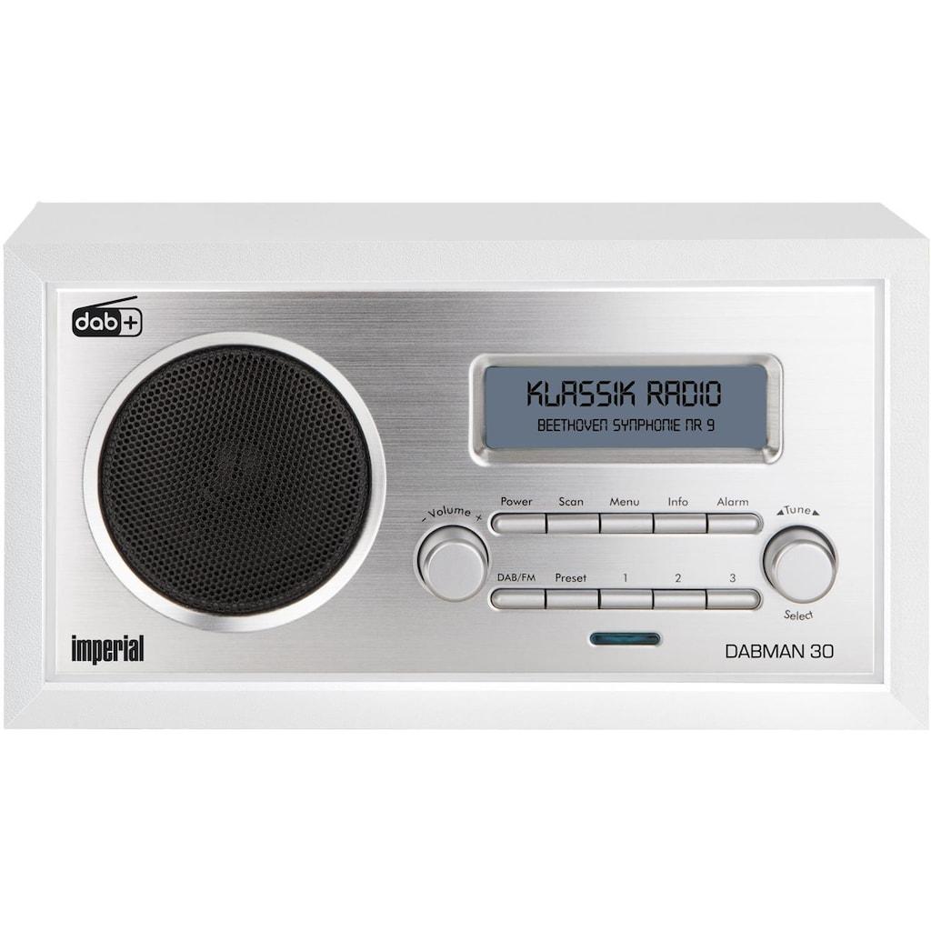 IMPERIAL by TELESTAR Digitalradio (DAB+) »DABMAN 30«, (Digitalradio (DAB+)-FM-Tuner), für DAB+/DAB/UKW-Empfang (Retro; Aux in)