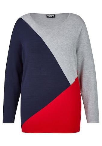 VIA APPIA DUE Moderner Pullover mit Grafik-Muster Plus Size kaufen