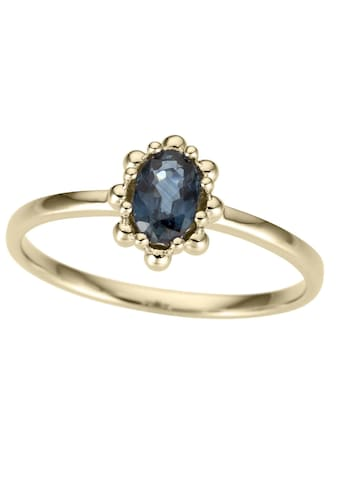 Firetti Goldring »Ovale Ringfassung, glanz, massiv«, mit Saphir kaufen