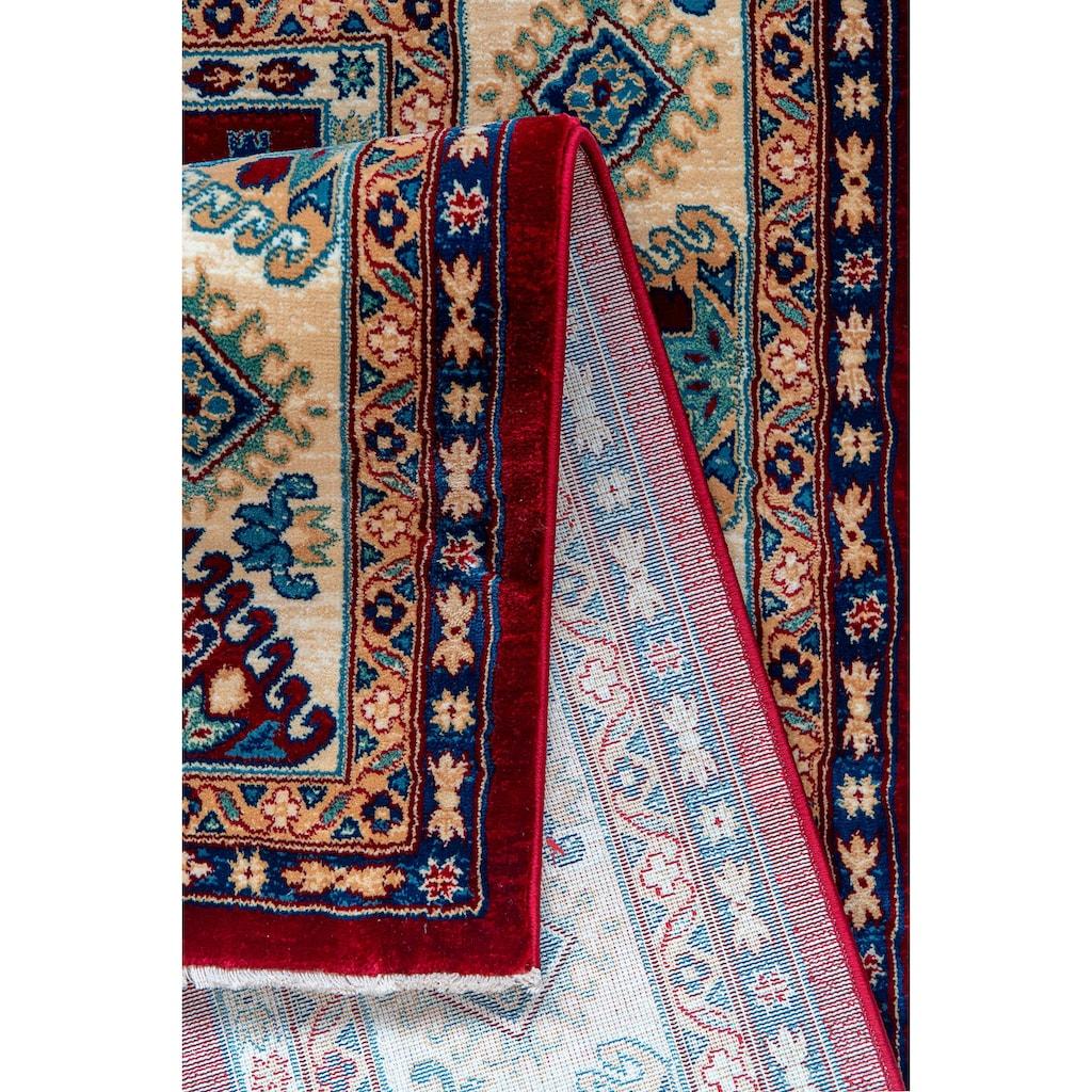 Sehrazat Teppich »Ornament 1349«, rechteckig, 10 mm Höhe, Kurzflor, Orient-Optik, mit Fransen, Wohnzimmer