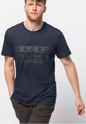 Jack Wolfskin Kurzarmshirt »BRAND T M« kaufen