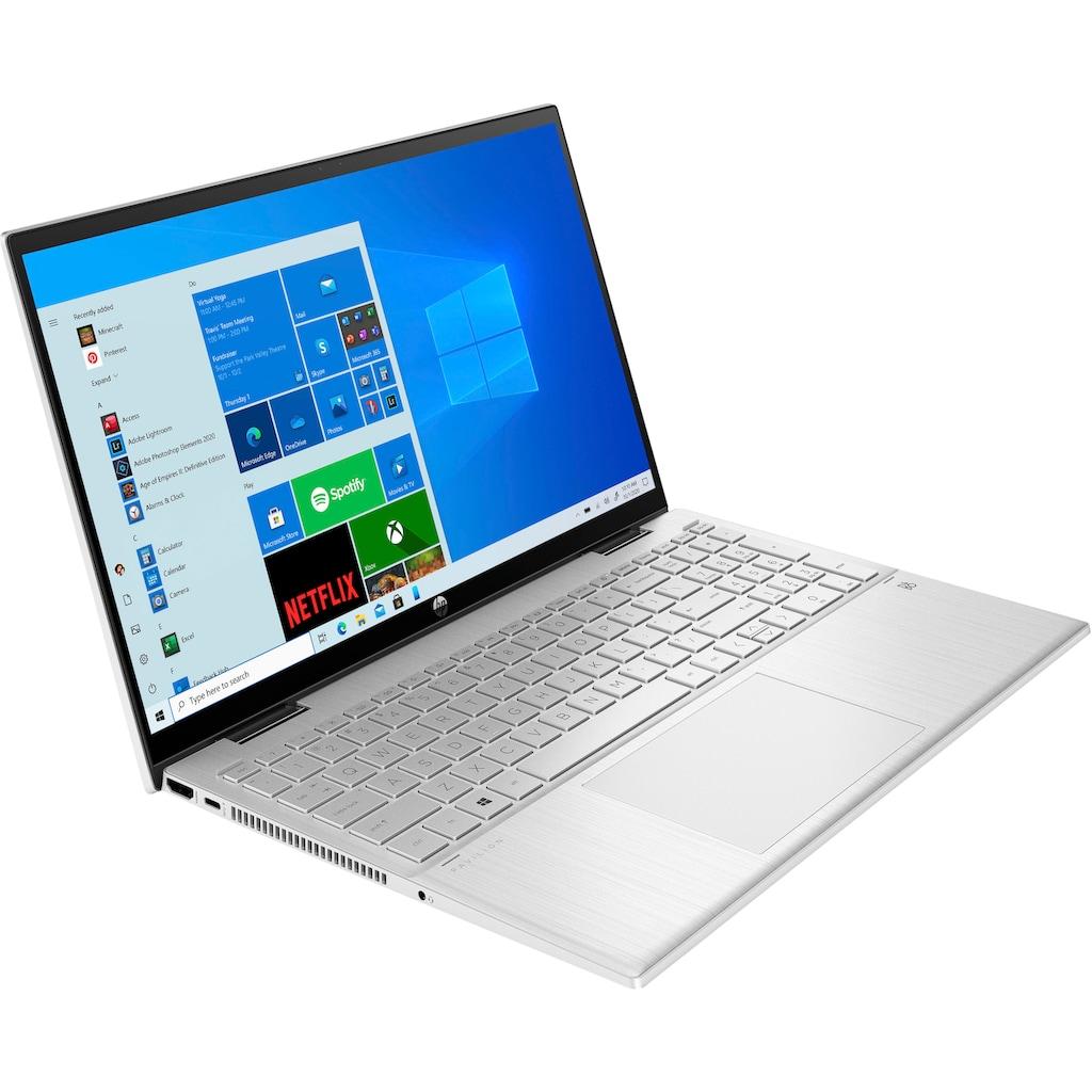 "HP Convertible Notebook »Pavilion x360 15-er0210ng«, (39,6 cm/15,6 "" Intel Pentium Gold UHD Graphics\r\n 256 GB SSD), Kostenloses Upgrade auf Windows 11, sobald verfügbar"