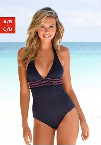 LASCANA Badeanzug, in gesmoktem Look kaufen