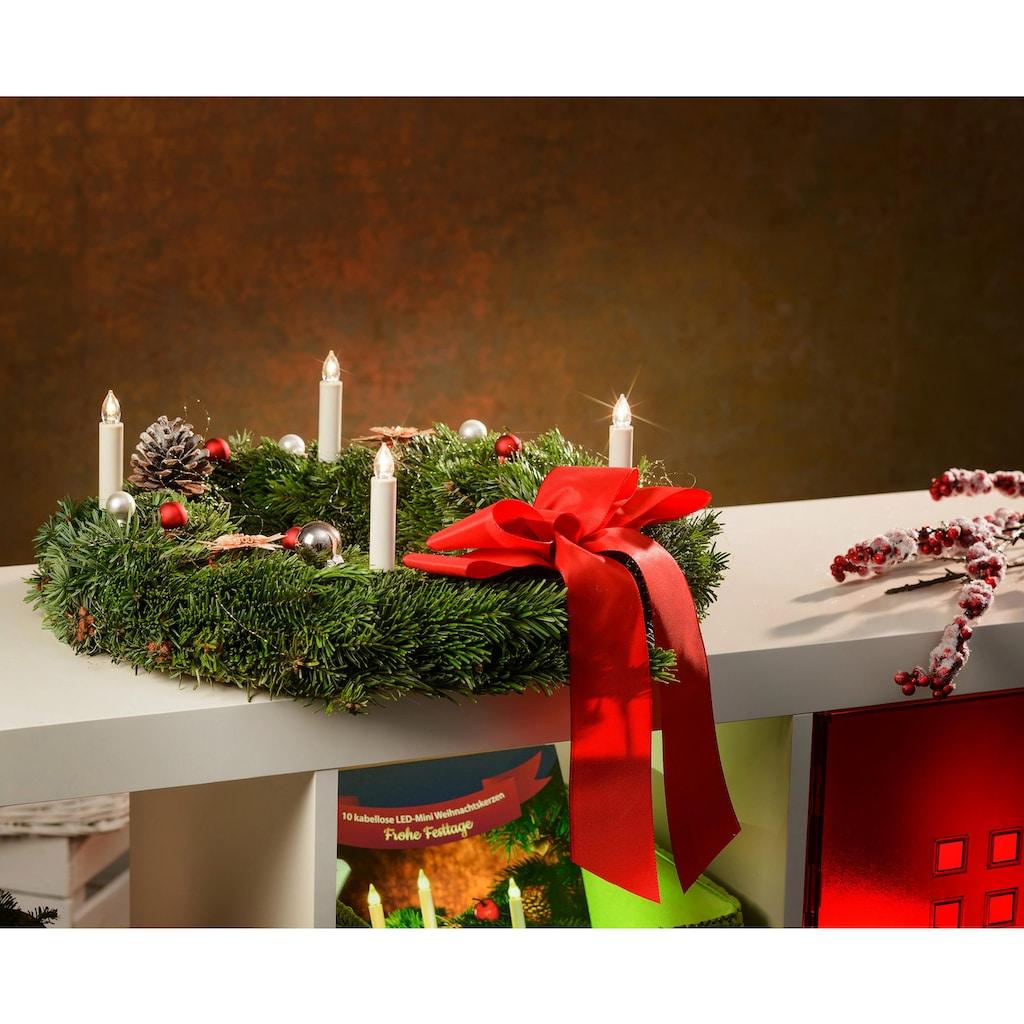 BONETTI LED-Christbaumkerzen, kabellos, 25 Kerzen plus 8 Dornen