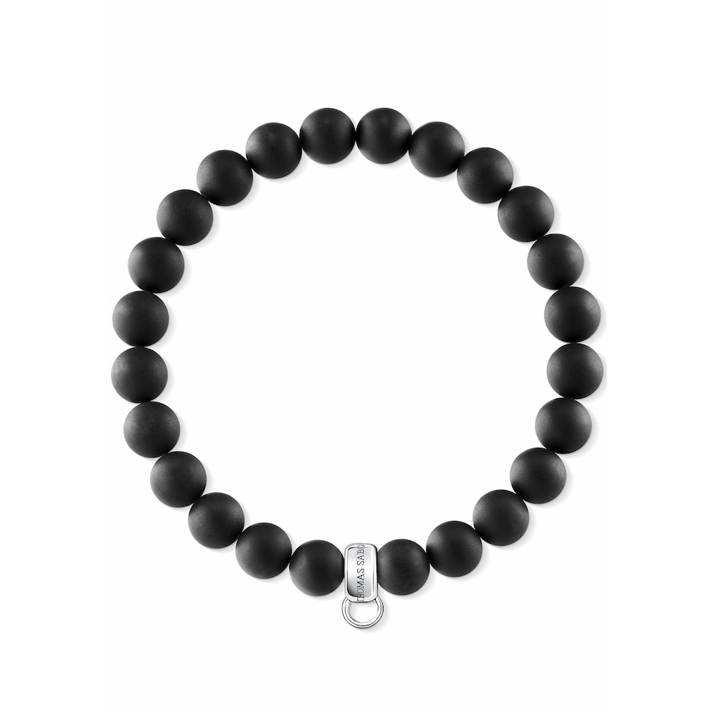 THOMAS SABO Charm-Armband »Schwarz, X0219-023-11-L«, mit Obsidian