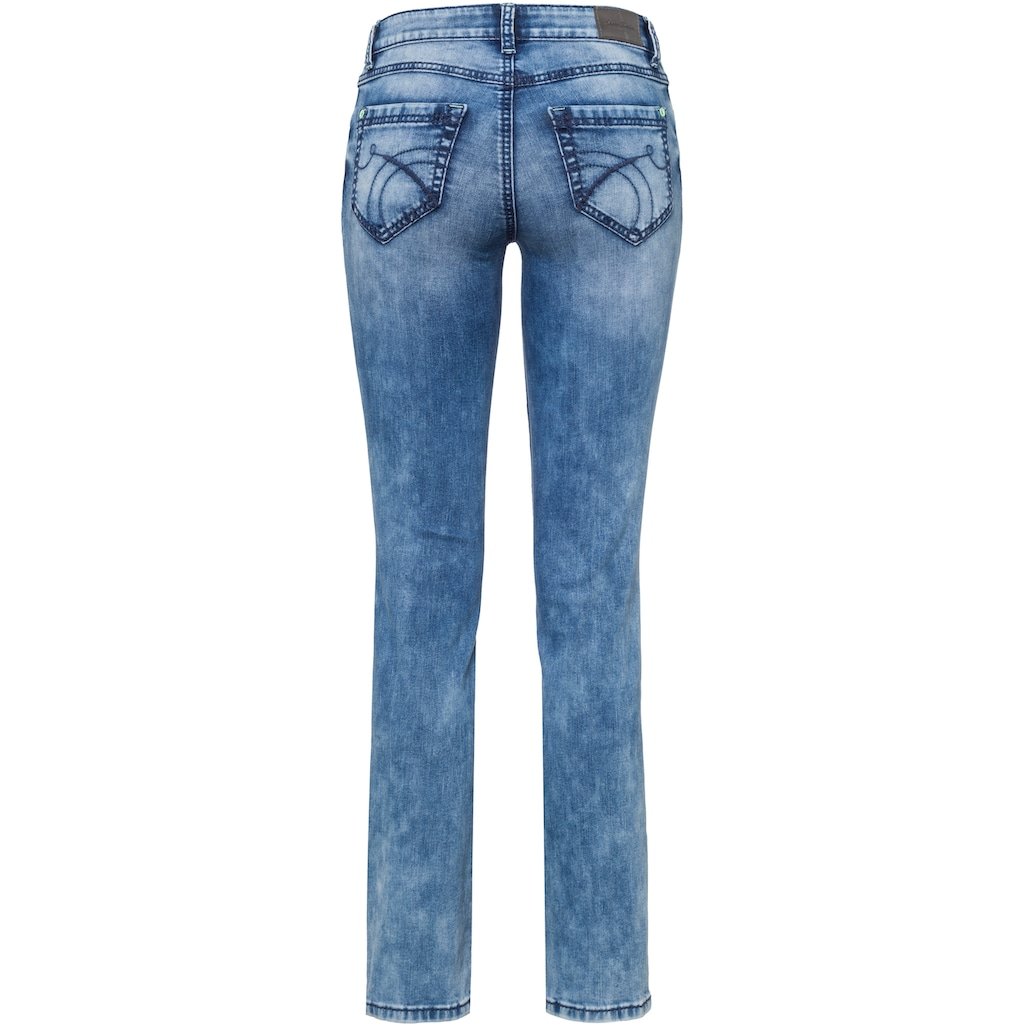 SOCCX Slim-fit-Jeans »RO:MY«, mit toller Sun Used Waschung