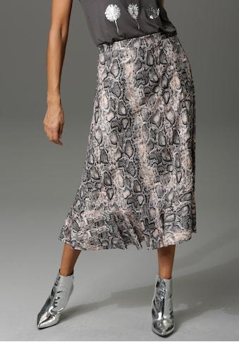 Aniston CASUAL Volantrock, mit trendigem Schlangenprint - NEUE KOLLEKTION kaufen