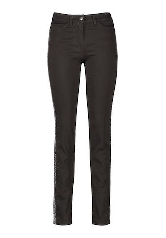 GERRY WEBER Hose Jeans lang 5 - Pocket Jeans mit appliziertem Band Best4me »Jeans mit Galonstreifen Best4me« kaufen