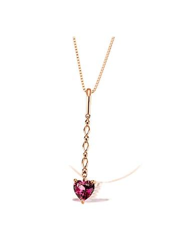 goldmaid Collier Herz 585/- Rotgold 1 Rhodolith kaufen