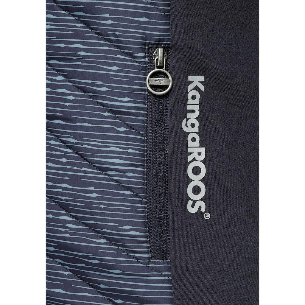 KangaROOS Langjacke, mit bedrucktem wattiertem Einsatz vorn