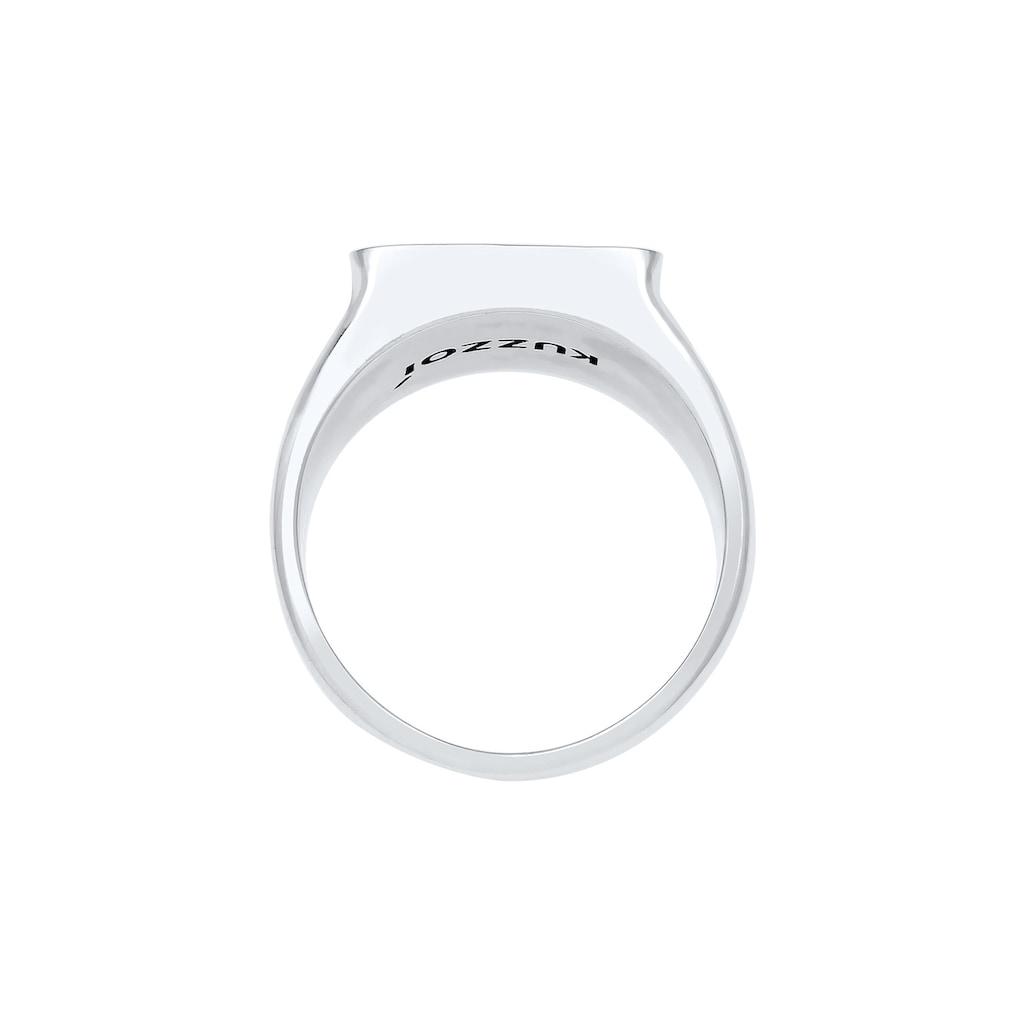 Kuzzoi Siegelring »Herren Siegelring Anker Symbol Oxidiert 925 Silber«