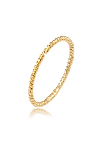 Elli Fingerring »Basic Twisted Gedreht Minimal Look 375 Gelbgold« kaufen