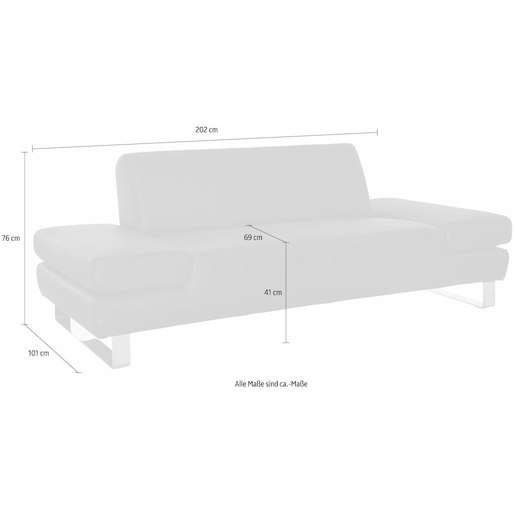 W.SCHILLIG 2-Sitzer »taboo«, mit Übertiefe, inklusive Armlehnenverstellung