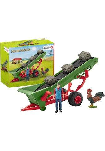 """Schleich® Spielfahrzeug - Anhänger """"Farm World, Heuförderband mit Bauer (42377)"""" kaufen"""