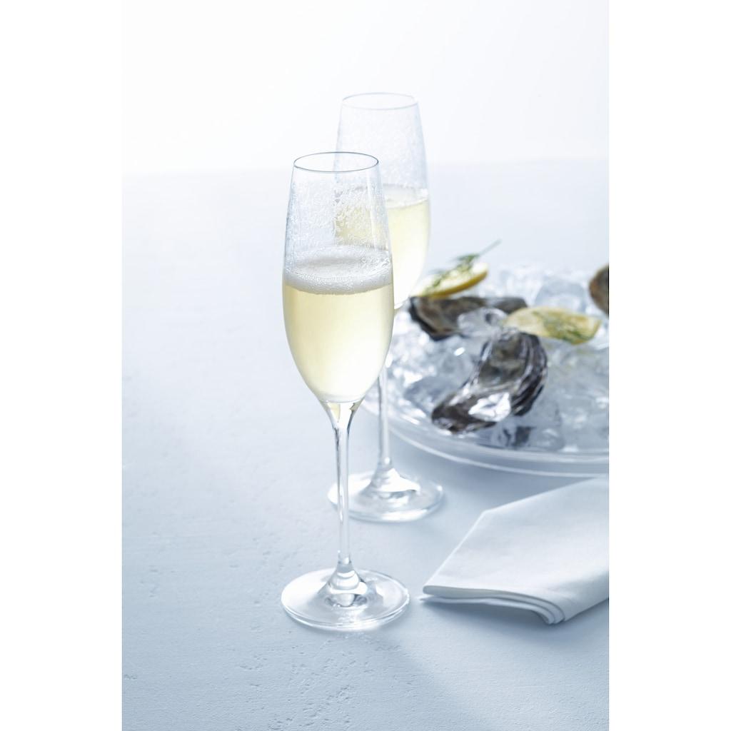 LEONARDO Sektglas »Chateau«, (Set, 6 tlg.), 200 ml, Teqton-Qualität, 6-teilig