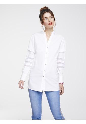 Bluse mit Netzeinsätzen kaufen
