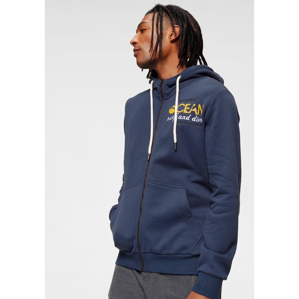 Ocean Sportswear Kapuzensweatjacke, mit Logostickerei