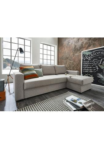 ATLANTIC home collection Ecksofa, mit Bettfunktion und Bettkasten, Recamiere links... kaufen