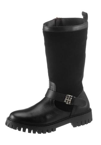 Tommy Hilfiger Winterstiefel »TH HARDWARE MATERIAL MIX BOOT«, mit TH-Emblem kaufen