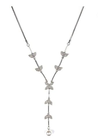 J.Jayz Kette mit Anhänger »Blätter und Blüten an Venezianerkette in Y-Form«, mit... kaufen