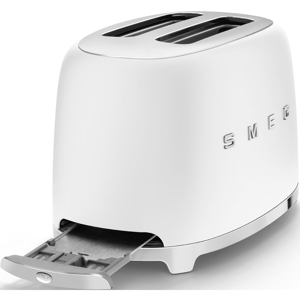 Smeg Toaster »TSF01WHMEU«, 2 kurze Schlitze, 950 W