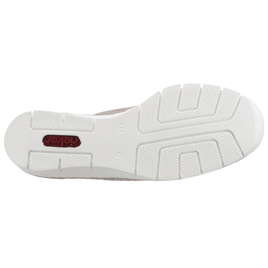 Rieker Sandalette, mit Laserlochung und Strasssteinen