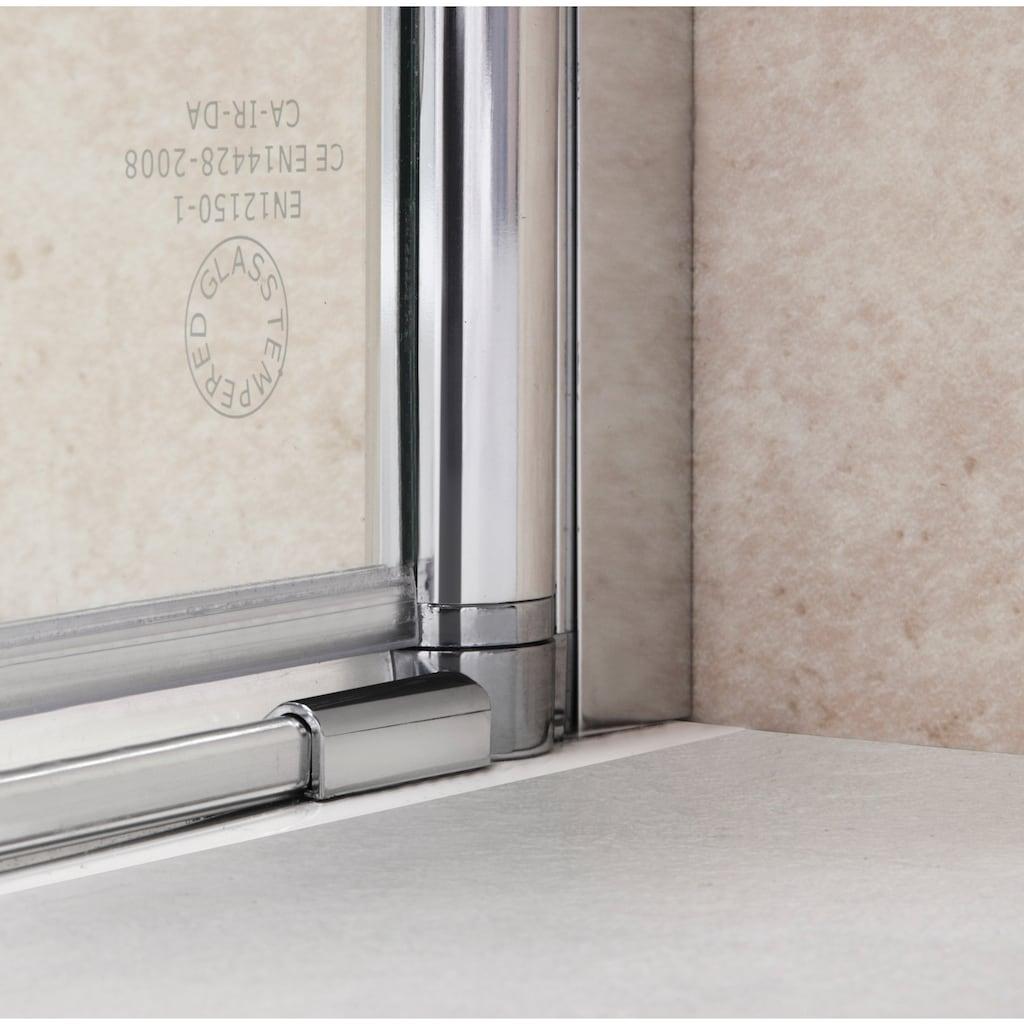 Eckdusche »Florenz«, mit Hebe-Senk-Mechanismus, barrierefrei einbaubar