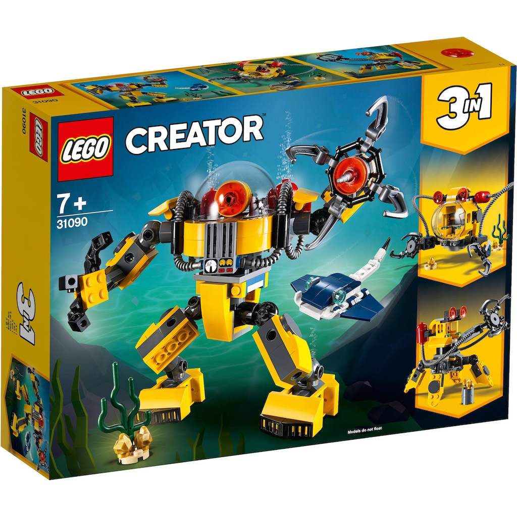 LEGO® Konstruktionsspielsteine »Unterwasser-Roboter (31090), LEGO® Creator«, (207 St.), Made in Europe