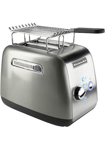 KitchenAid Toaster »5KMT221ECU mit Brötchenaufsatz und Sandwichzange«, für 2 Scheiben, 1100 Watt kaufen