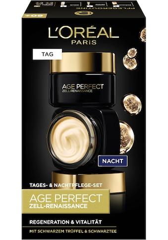 L'ORÉAL PARIS Gesichtspflege-Set »Age Perfect Zell-Renaissance Tag- und Nacht«, (2 tlg.), mit Aminosäuren und Vitamin B kaufen