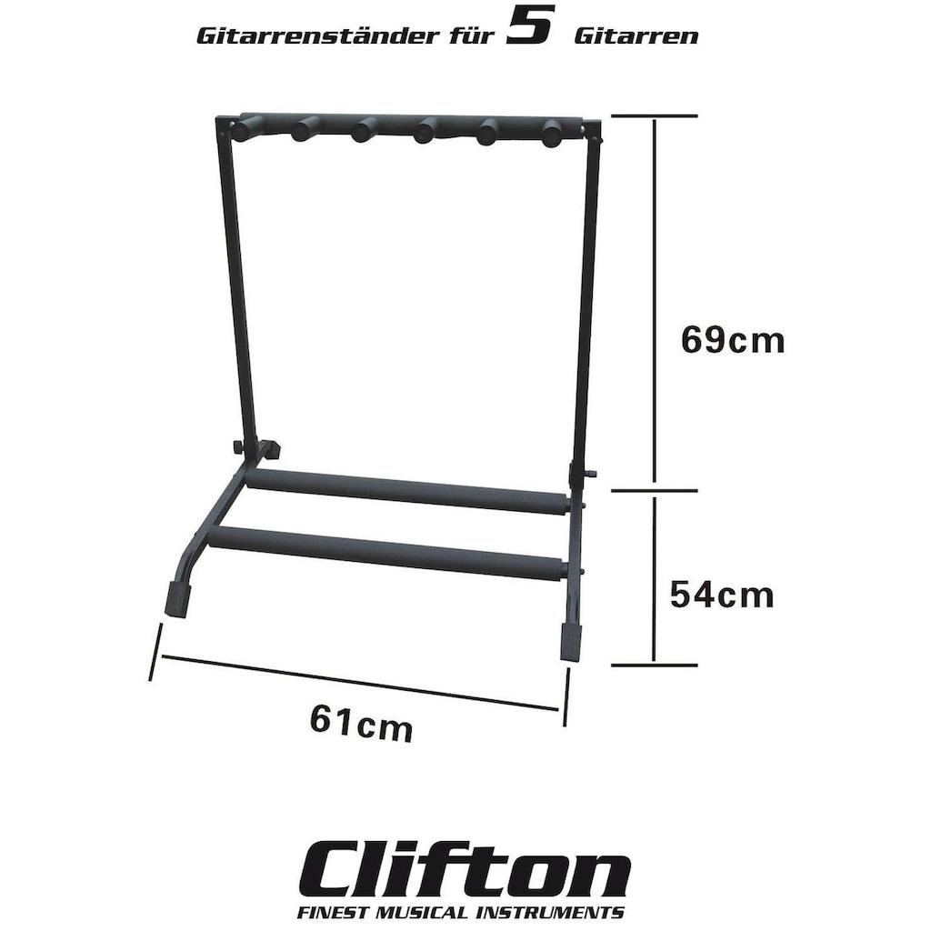 Clifton Gitarrenständer »5 facher Gitarrenständer«