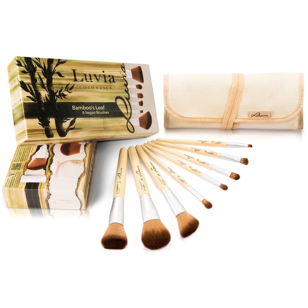 Luvia Cosmetics Kosmetikpinsel-Set »Bamboo's Leaf«, (8 tlg., mit Aufbewahrungstasche), vegan