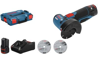Bosch Professional Akku-Winkelschleifer »GWS 12V-76«, mit 2 Akkus und Ladegerät kaufen