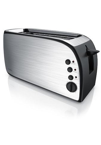 Arendo Automatik 4 - Scheiben Langschlitz Toaster mit Brötchenaufsatz »DEJEUNER« kaufen