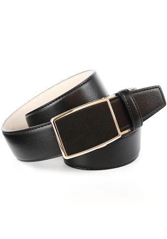Anthoni Crown Ledergürtel, mit goldfarbener Automatik-Schließe kaufen