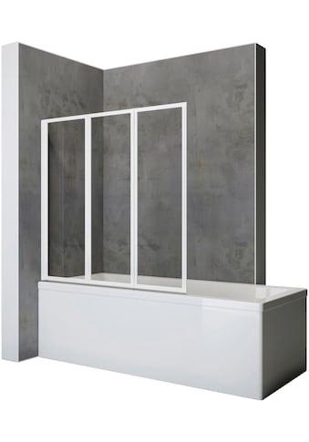 SCHULTE Komplett - Set: Badewannenaufsatz Zum Kleben oder Bohren, 3 - tlg., B x H: 127 x 120 cm kaufen
