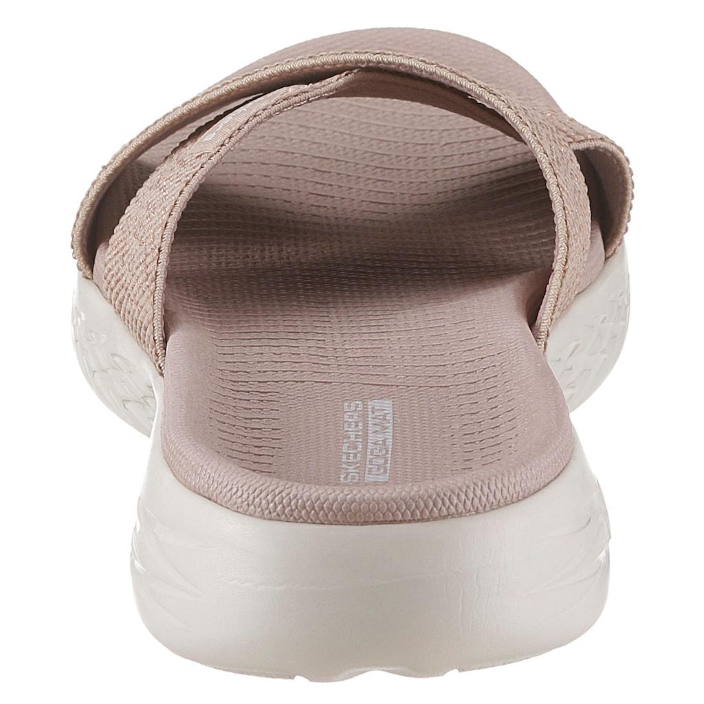 Skechers Pantolette »On the Go 600 - Glistening«, mit Stretch-Bandage
