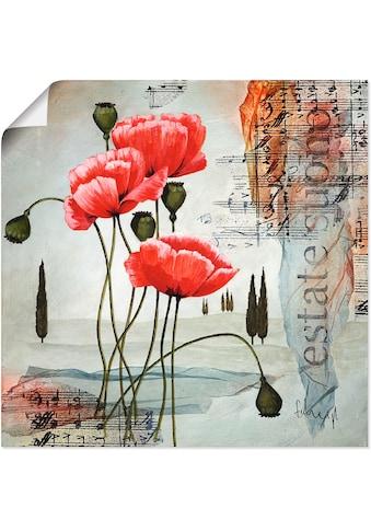 Artland Wandbild »Klatschmohn«, Blumen, (1 St.), in vielen Größen & Produktarten... kaufen
