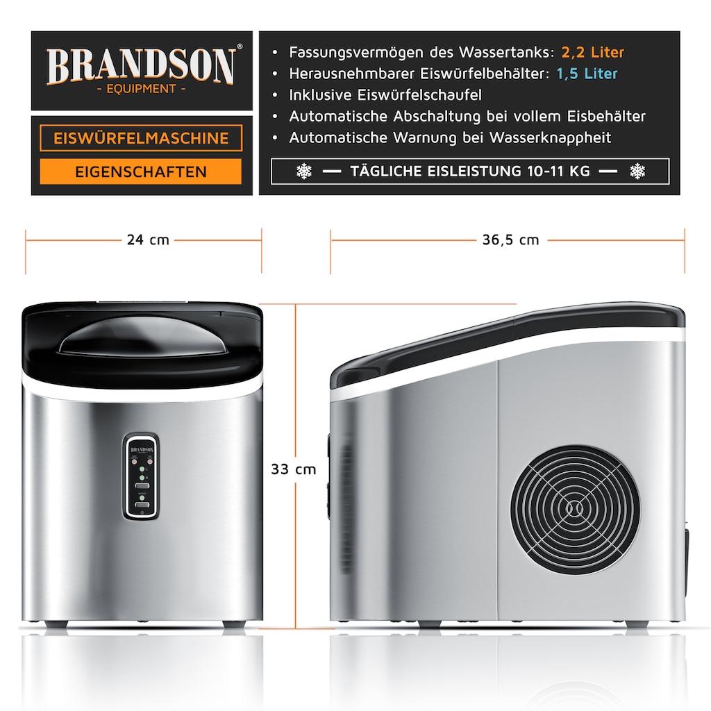 Brandson Eiswürfelmaschine »Eiswürfelbereiter - 9 Eiswürfel in 9 Minuten«, 100 W – 2,2 Liter
