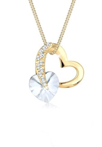 Elli Collierkettchen »Herz Anhänger Kristallen 925 Silber« kaufen
