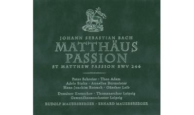 Musik - CD Matthäus - Passion (Box - Set) / Mauersberger/Leipzig Gh/Schreier/Dresden Kreuzchor, (3 CD) kaufen