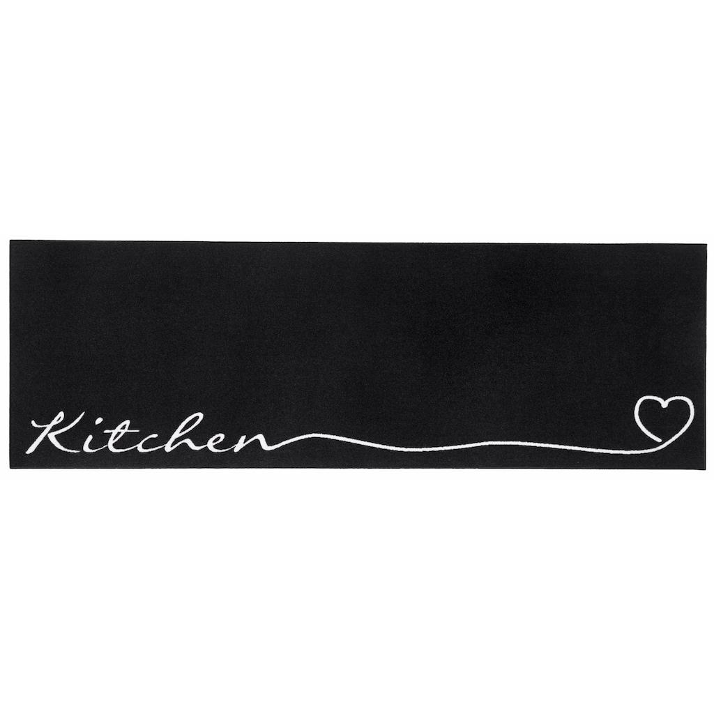 Zala Living Küchenläufer »Kitchen Herz«, rechteckig, 5 mm Höhe, waschbar