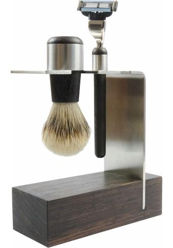 Golddachs Rasierset »Wengeholz Rasierset«, mit Rasierer (Mach3) und Pinsel (Silberspitze) kaufen